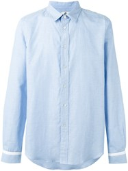 Paul Smith Ps By Cuffs Detail Shirt Blue