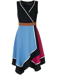 Loveless Colour Block Wrap Dress Multicolour