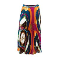 Versace Long Split Skirt Rosso Stampa