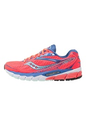 Saucony Ride 8 Cushioned Running Shoes Coral Blue Sea