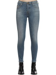 Diesel Babhila Cropped Cotton Denim Jeans Light Blue