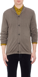 Massimo Alba Shawl Collar Cardigan Dark Gray