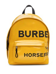 Burberry Horseferry Coated Backpack Yellow