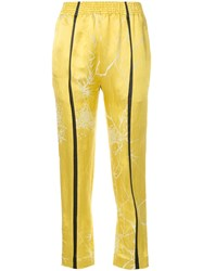 Haider Ackermann 'Dianthus' Cropped Trousers Yellow And Orange