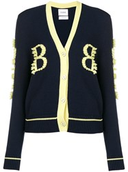 Barrie Cashmere Two Tone Cardigan Blue