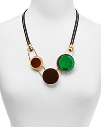 Marni Horn And Resin Statement Necklace 24 Black