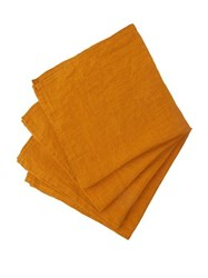 Once Milano Linen Napkin Set Yellow