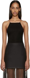 Alexander Wang Black Criss Cross Back Bodysuit