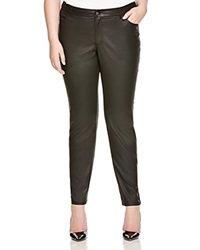 Lafayette 148 New York Plus Faux Leather Jeans Black