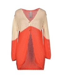 People Cardigans Red