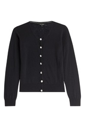 Tara Jarmon Cashmere Cardigan With Embellished Buttons Blue