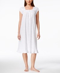 Eileen West Waltz Cap Sleeve Lace Trim Nightgown