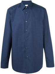 Paul Smith 'Ditsy Paisley' Shirt Blue