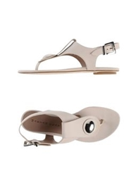 Martin Clay Thong Sandals Light Grey
