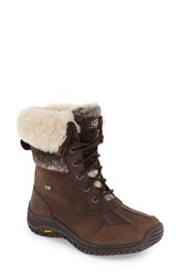 Uggr Women's Ugg 'Adirondack' Waterproof Insulated Winter Boot Chocolate Leather