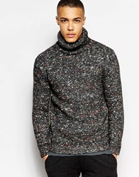 Junk De Luxe Jumper Roll Neck Grey