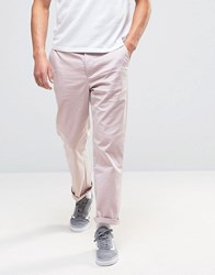Asos Straight Chinos In Pink Pink