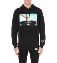 Diamond Supply Co. Diamond Records Cotton Blend Hoody Black