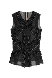 Balmain Embellished Sleeveless Top Black