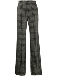 Dolce And Gabbana Checked Loose Fit Trousers Green