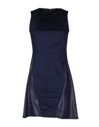 Mauro Gasperi Short Dresses Blue
