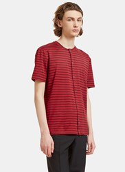 Lanvin Striped Button Up T Shirt Black