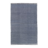 Dash And Albert Herringbone Indoor Outdoor Rug Navy Ivory Blue
