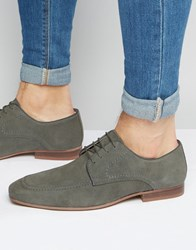 Asos Derby Shoes In Grey Suede With Natural Sole Grey Tan