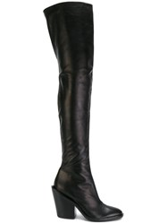 A.F.Vandevorst Thigh High Boots Leather Sheep Skin Shearling Black