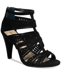 Alfani Women's Chloey Cutout Dress Sandals Only At Macy's Women's Shoes Black