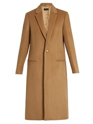 Joseph Nevada Single Breasted Cashmere Coat Camel