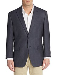 Calvin Klein Silk And Wool Blend Sportcoat Navy Black