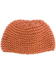Telfar Knit Beanie Brown