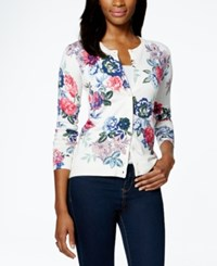 Charter Club Petite Floral Print Cardigan Only At Macy's