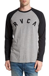 Rvca Men's 'Short Stop' Raglan Long Sleeve T Shirt