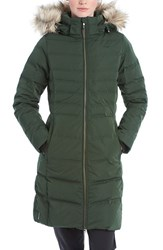 Lole Women's 'Katie' Quilted Parka With Faux Fur Trim Forest