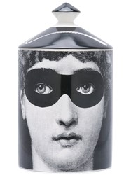 Fornasetti Burlesque Candle Unisex Wax Ceramic One Size Black