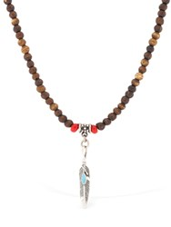 Cantini Mc Firenze Native Bone Beaded Necklace Multicolor