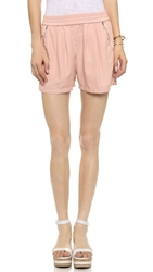 Rebecca Taylor Twill Shorts Rosewood