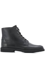 Tod's Lace Up Ankle Boots Black