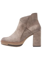 Marco Tozzi High Heeled Ankle Boots Tobacco Antic Dark Brown