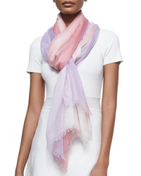 Sofia Cashmere Cashmere Featherweight Dip Dye Shawl Pink Purple