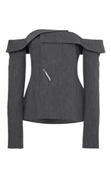 Adeam Twill Deconstructed Blazer Dark Grey