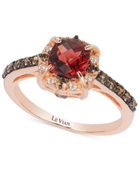 Le Vian Petite Collection Garnet 1 1 6 Ct. T.W. And Chocolate Diamond 3 8 Ct. T.W. Ring In 14K Rose Gold