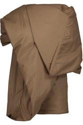 Rick Owens Asymmetric Draped Padded Shell Top Tan