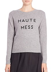 Milly Haute Mess Cashmere Sweater Charcoal