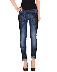 Yes London Denim Denim Trousers Women Blue
