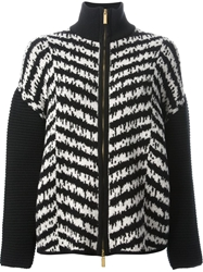 Emanuel Ungaro Chevron Pattern Zip Jacket Black