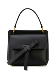Oscar De La Renta Knot Detail Shoulder Bag Black