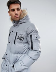 Kings Will Dream Reflective Parka Silver